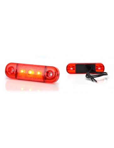 Marker light WAŚ W97.1/709 red 12/24V