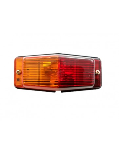 Double burner orange/red lamp