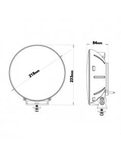 Lampa obrysowa LED WAŚ W158 czerwona