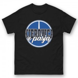 Mens T-shirt Driver with passion blue/black