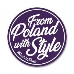 From Poland with Style - sticker small violet